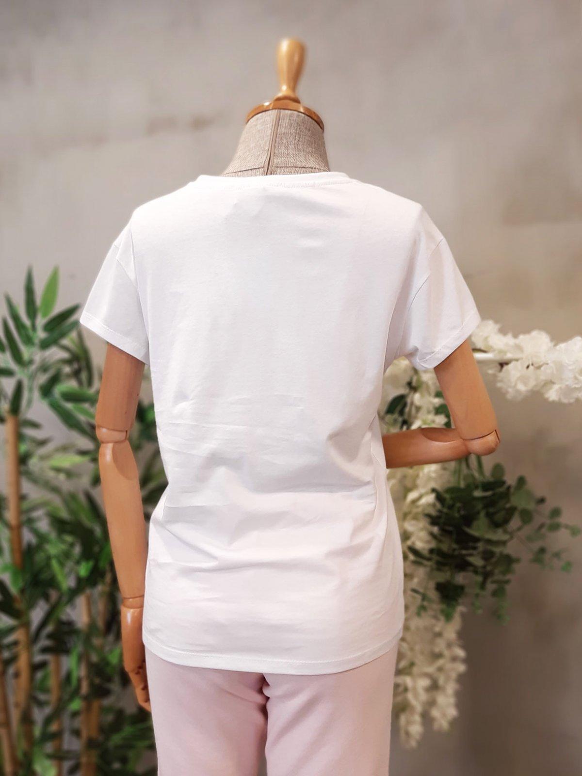 Pul İşlemeli Tshirt