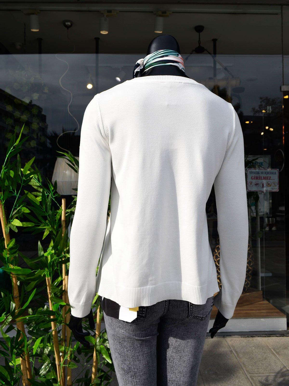 Yanı Fermuarlı Triko Bluz