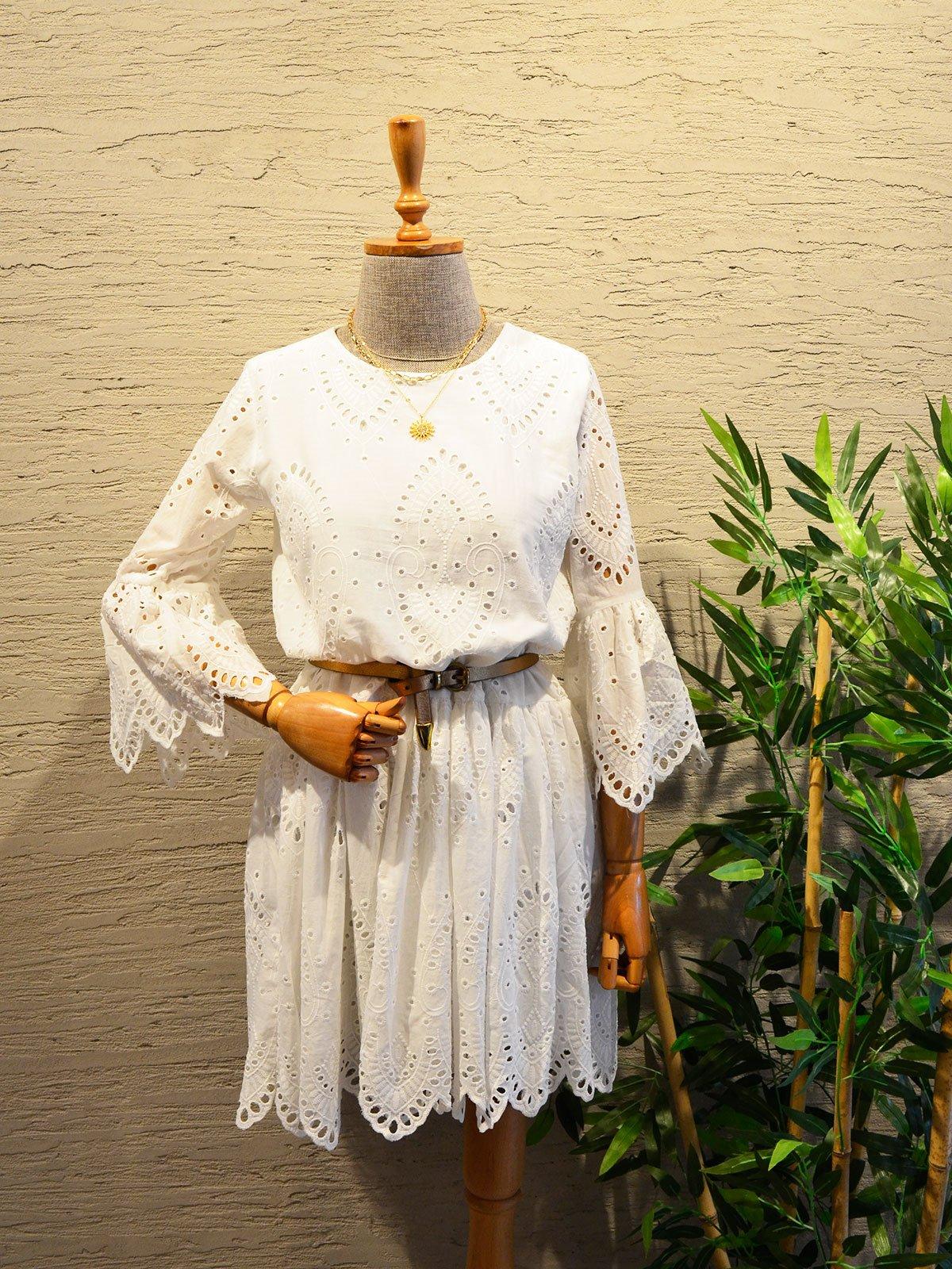 Brode Nakışlı Elbise