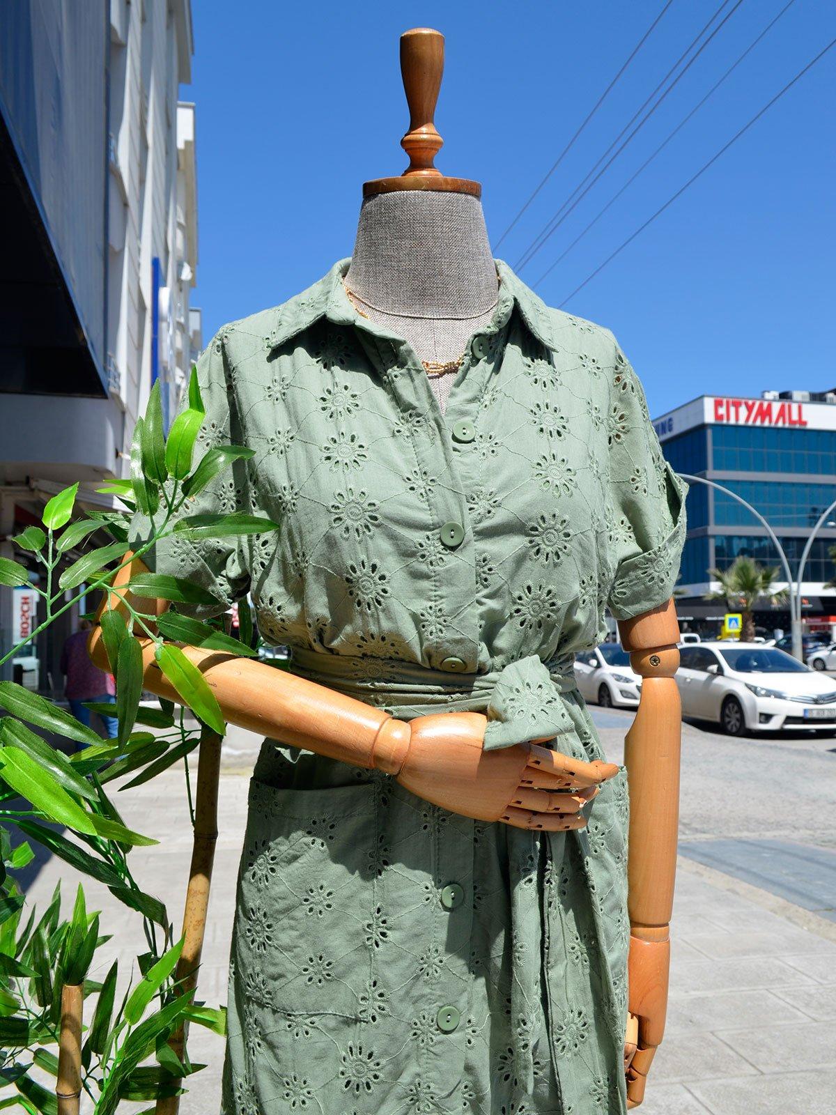Astarlı Gömlek Elbise