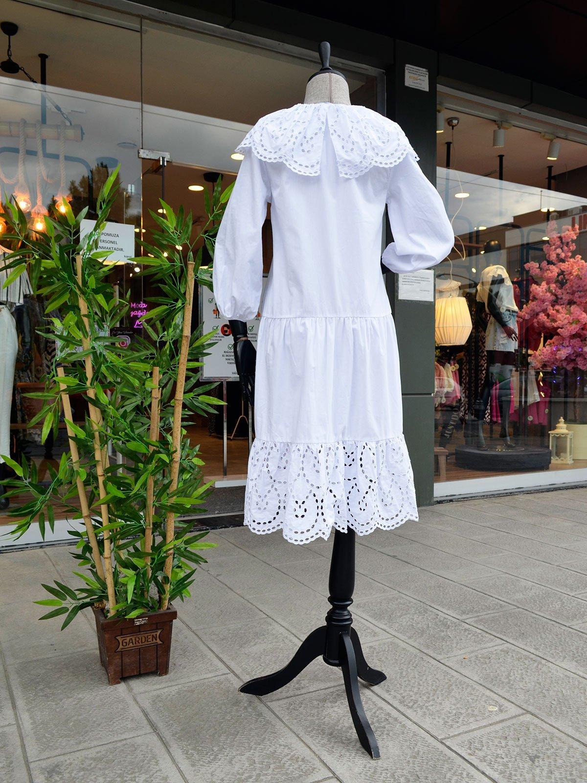 Yakası Fistolu Elbise