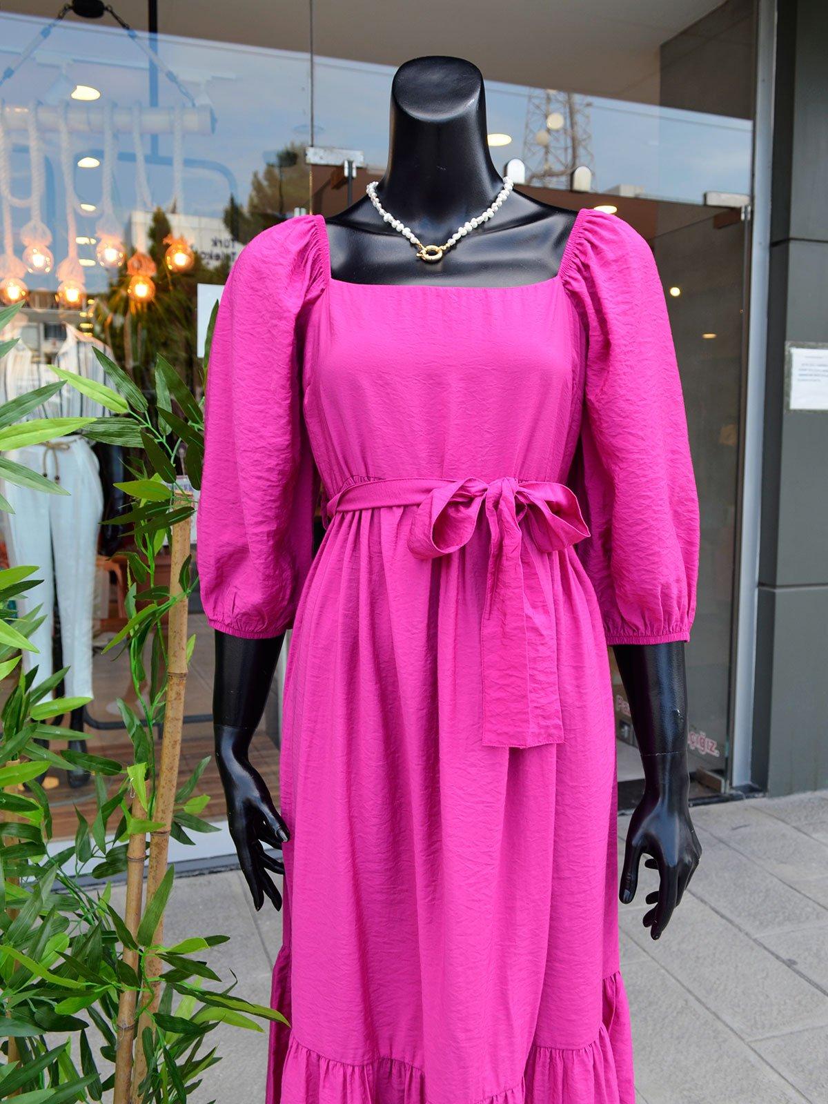 Kuşaklı Truvakar Kol Elbise