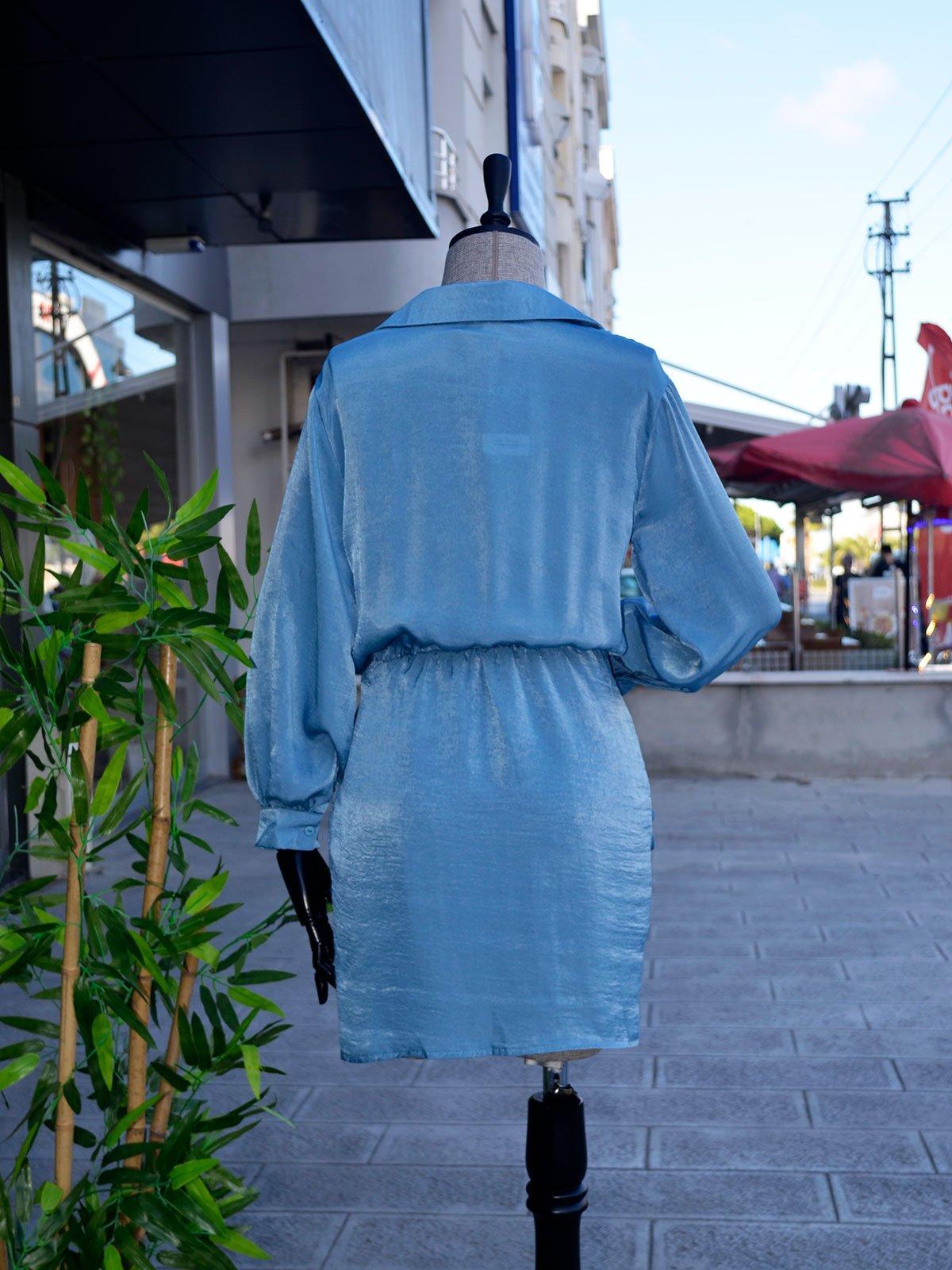 Eteği Anvelop Saten Elbise