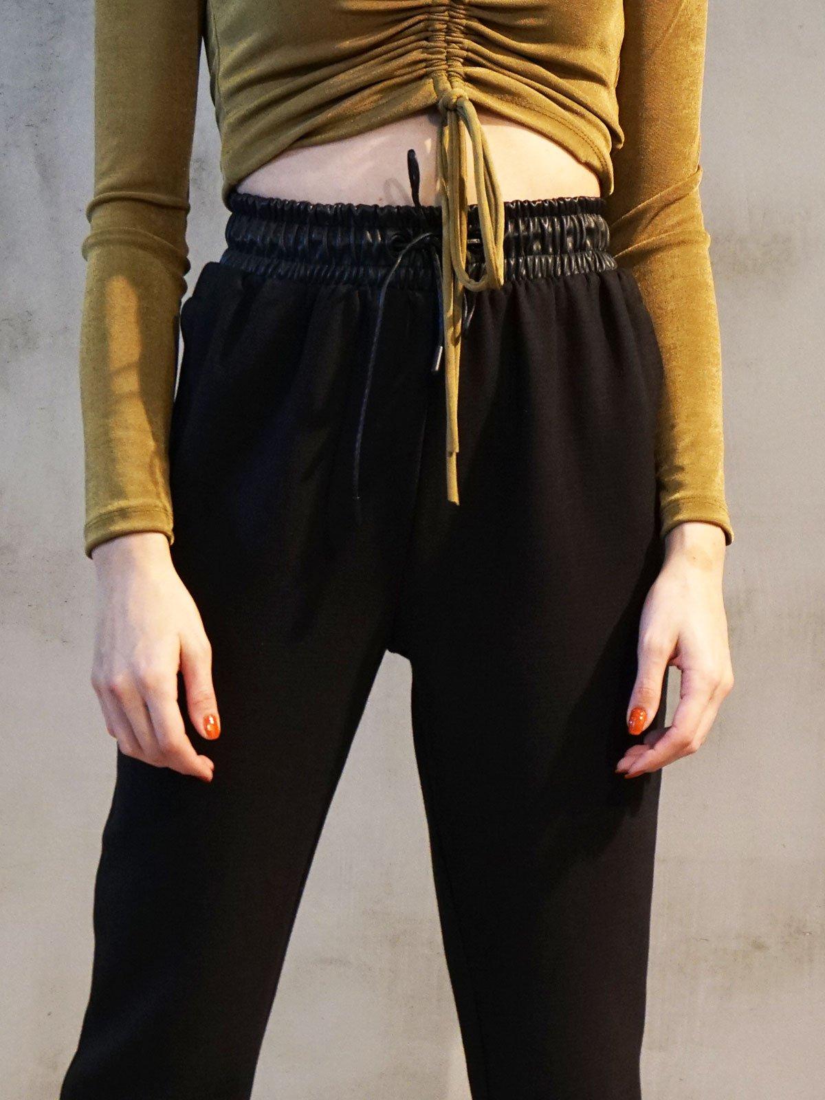 Kemeri Deri Detay Pantolon